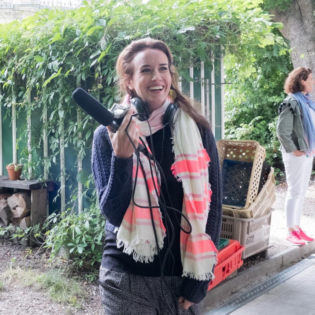 Vanessa Weber von Schmoller beim Dreh